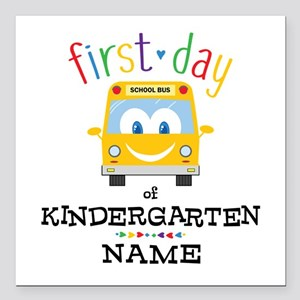 "Custom Kindergarten Square Car Magnet 3"" x 3"""