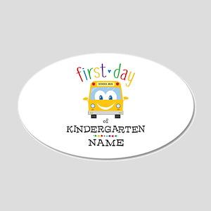 Custom Kindergarten 20x12 Oval Wall Decal
