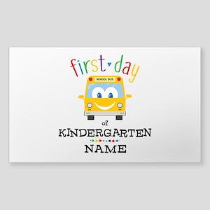 Custom Kindergarten Sticker (Rectangle)