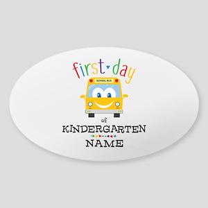 Custom Kindergarten Sticker (Oval)
