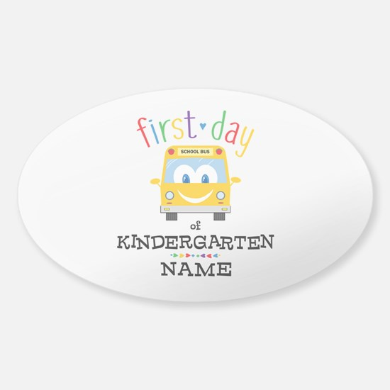 Custom Kindergarten Sticker (Oval)