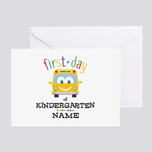 Custom Kindergarten Greeting Card