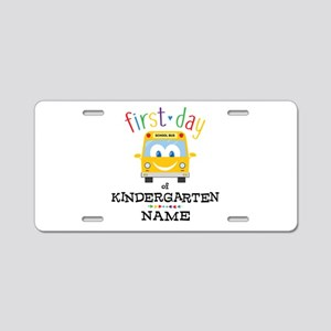Custom Kindergarten Aluminum License Plate