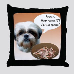 Shih Tzu(natural) Turkey Throw Pillow