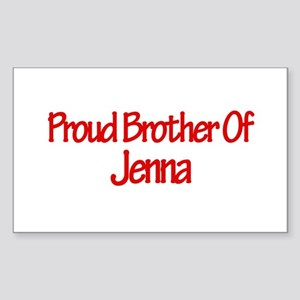 Proud Brother of Jenna Rectangle Sticker
