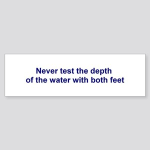 Depth of the water Bumper Sticker