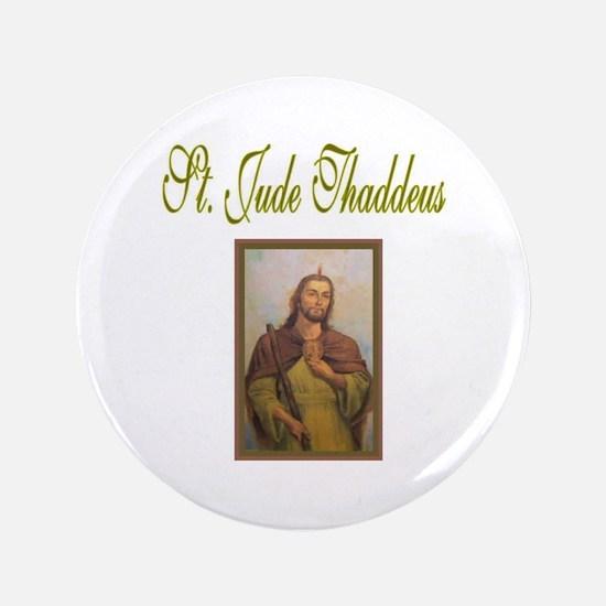 """St. Jude Thaddeus 3.5"""" Button"""