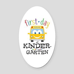 Kindergarten Oval Car Magnet