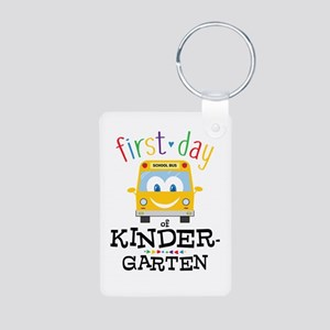Kindergarten Aluminum Photo Keychain