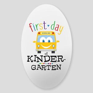Kindergarten Sticker (Oval)