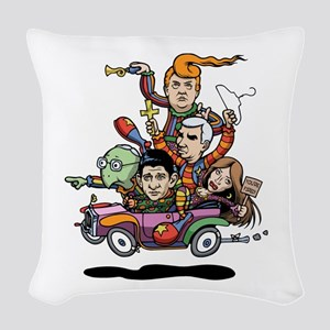 GOP Clown Car '16 Woven Throw Pillow