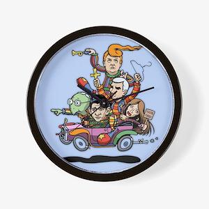 GOP Clown Car '16 Wall Clock