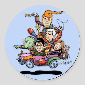 GOP Clown Car '16 Round Car Magnet