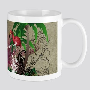 Tropical design with palm Mugs