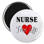 """Nurse For Life 2.25"""" Magnet (10 pack)"""