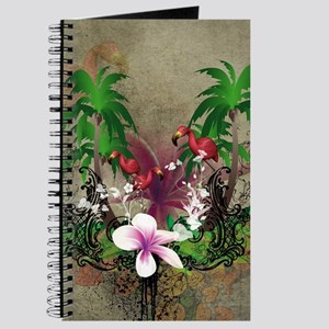 Tropical design with palm Journal
