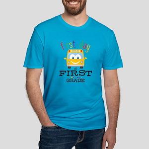 First Grade Men's Fitted T-Shirt (dark)