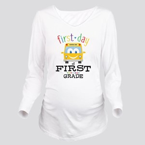 First Grade Long Sleeve Maternity T-Shirt