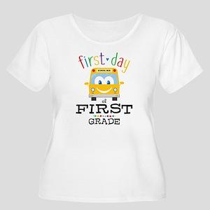 First Grade Women's Plus Size Scoop Neck T-Shirt