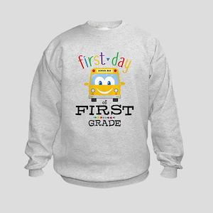First Grade Kids Sweatshirt