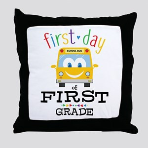 First Grade Throw Pillow