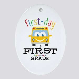 First Grade Oval Ornament