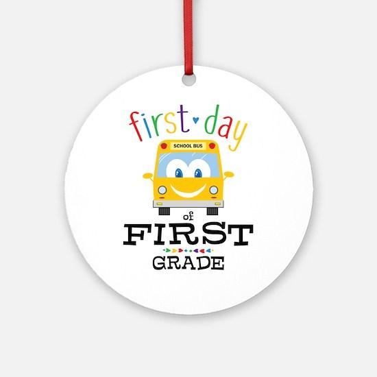First Grade Round Ornament