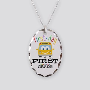 First Grade Necklace Oval Charm
