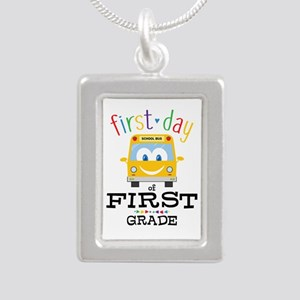 First Grade Silver Portrait Necklace