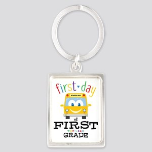 First Grade Portrait Keychain