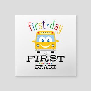 "First Grade Square Sticker 3"" x 3"""