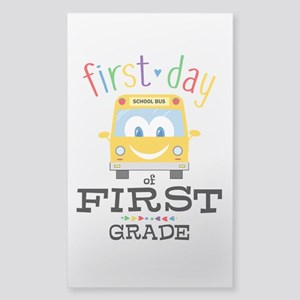 First Grade Sticker (Rectangle)