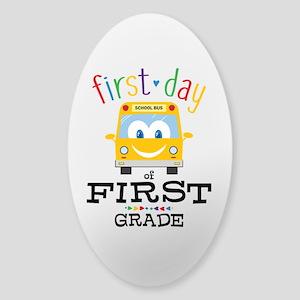 First Grade Sticker (Oval)