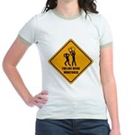 You Are Being Monitored Jr. Ringer T-Shirt
