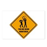 You Are Being Monitored Postcards (Package of 8)