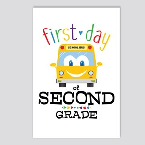First Day Second Grade Postcards (Package of 8)
