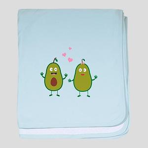 Avocados in love baby blanket