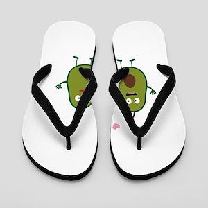 Avocados in love Flip Flops
