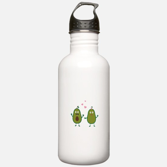 Avocados in love Sports Water Bottle