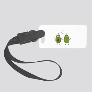 Avocados in love Small Luggage Tag