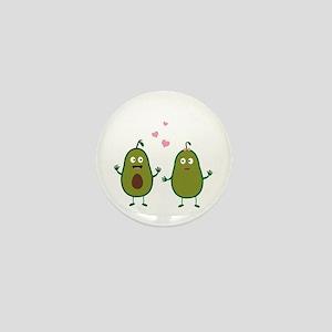 Avocados in love Mini Button