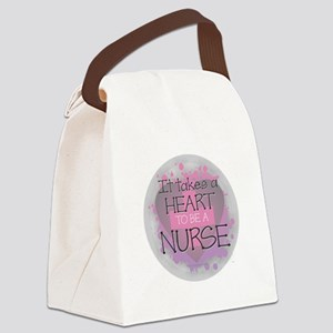 It Takes a Heart to be a Nurse Canvas Lunch Bag