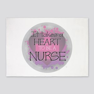 It Takes a Heart to be a Nurse 5'x7'Area Rug