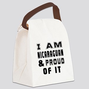 I Am Nicaraguan And Proud Of It Canvas Lunch Bag