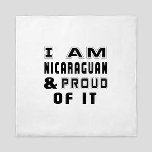 I Am Nicaraguan And Proud Of It Queen Duvet
