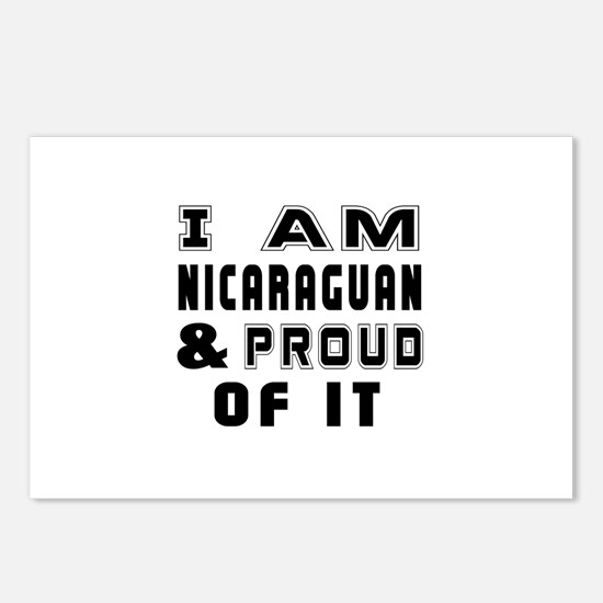 I Am Nicaraguan And Proud Postcards (Package of 8)