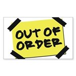 Out of Order Rectangle Sticker
