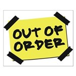 Out of Order Small Poster