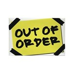 Out of Order Rectangle Magnet (100 pack)
