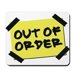 Out of Order Mousepad